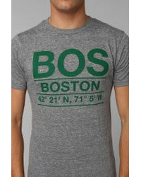 Urban Outfitters - Gray Deter Boston Coordinates Tee for Men - Lyst