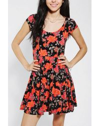 Urban Outfitters | Pink Silence Noise Printed Skater Dress | Lyst