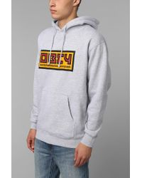 Urban Outfitters - Gray Obey Seven Feet Pullover Hoodie Sweatshirt for Men - Lyst