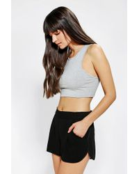 Urban Outfitters | Gray Out From Under Racer Back Cropped Bra Top | Lyst