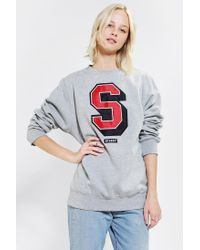 Urban Outfitters | Gray Stussy Super S Sweatshirt | Lyst