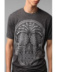 Urban Outfitters | Gray Obey Dia De Los Muertos Tee for Men | Lyst