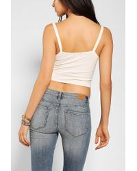 Urban Outfitters | White Bdg Sweetheart Cropped Top | Lyst