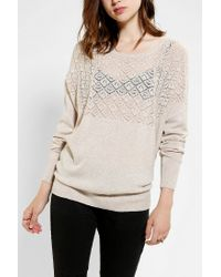 Urban Outfitters | White Pins and Needles Textured Yoke Dolman Sweater | Lyst