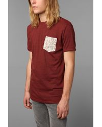 Urban Outfitters - Brown Europe Map Pocket Tee for Men - Lyst