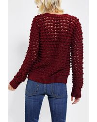 Urban Outfitters - Red Lucca Couture Chunky Bauble Sweater - Lyst