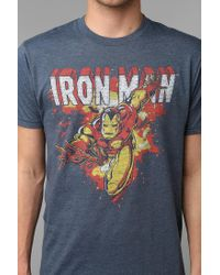 Urban Outfitters | Blue Junk Food Iron Man Tee for Men | Lyst
