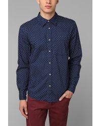 Urban Outfitters   Blue Neuw Polka Dot Button-Down Shirt for Men   Lyst