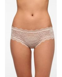 Urban Outfitters | Natural Uo Lace Cheeky Bikini | Lyst