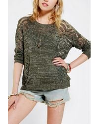 Urban Outfitters - Green Staring At Stars Openstitch Sweater - Lyst