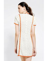 Urban Outfitters - Orange Opening Ceremony Piped Tulip Dress - Lyst