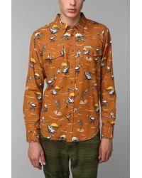 Urban Outfitters | Orange Dark Seas Bimini Buttondown Shirt for Men | Lyst