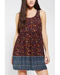 Urban Outfitters | Multicolor Ecote Peekaboo Babydoll Dress | Lyst