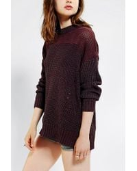 Urban Outfitters - Purple Sparkle Fade Mesh Inset Sweater - Lyst