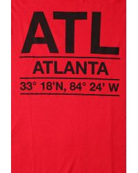 Urban Outfitters - Red Deter Atlanta Coordinates Tee for Men - Lyst