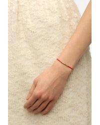 Nikki B - Red Nikki B Gold Glass Seed Bead Bracelet - Lyst