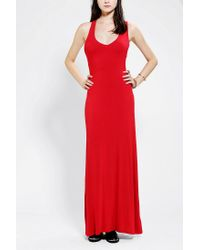Urban Outfitters - Red Sparkle Fade Asymmetrical Back Maxi Dress - Lyst