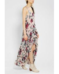 Urban Outfitters - Multicolor Floral Chiffon Maxi Dress - Lyst