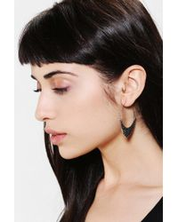 Urban Outfitters - Metallic Crescent Hoop Earring - Lyst