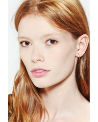 Urban Outfitters - Metallic Square Single Earring in Silver - Lyst