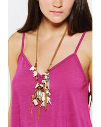 Urban Outfitters | Brown Spell The Gypsy Collective Hanalei Skull Necklace | Lyst