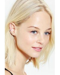 Urban Outfitters Metallic Thin Line Enameled Cuff Earring