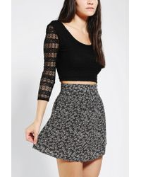 Urban Outfitters | Black Pins and Needles Bodycon Cropped Top | Lyst