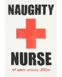 Urban Outfitters | White Corner Shop Naughty Nurse Tee | Lyst