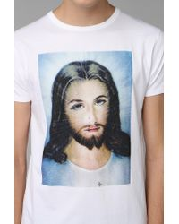 3941a53741abda Lyst - Urban Outfitters Sixpack France Jesus Tee in White for Men