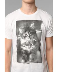 Urban Outfitters | White Smoking Cat Tee for Men | Lyst