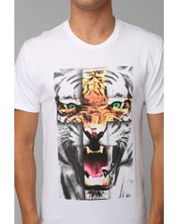 Urban Outfitters - White Tiger Cross Tee for Men - Lyst