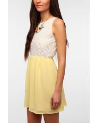 Urban Outfitters - Yellow One Only X Urban Renewal Lace Openback Dress - Lyst