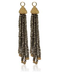 Annoushka | Metallic Gold and Pyrite Alchemy Tassel Earring Drops | Lyst