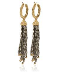 Annoushka - Metallic Gold and Pyrite Alchemy Tassel Earring Drops - Lyst