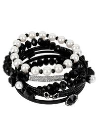 Betsey Johnson | Black Assorted Bracelet Set | Lyst