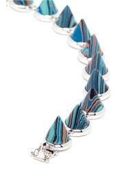 Eddie Borgo - Blue Marbled Gemstone Cone Bracelet - Lyst