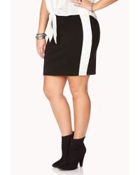 Forever 21 - Black Plus Size Minimalist Bodycon Skirt - Lyst