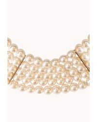 Forever 21 | White Iconic Faux Pearl Choker | Lyst