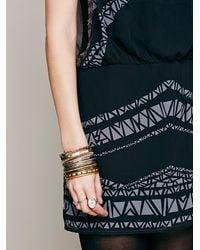 Free People - Black Aztec Print Dress - Lyst