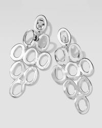 Ippolita - Metallic Silver Open Cascade Clip-on Earrings - Lyst