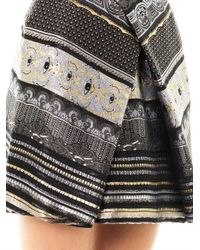KENZO | Black Temple Eye Brocade Skirt | Lyst