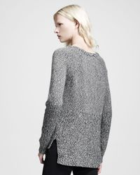 Rag & Bone - Gray Claire Heathered Knit Pullover - Lyst