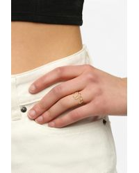 Urban Outfitters - Metallic Bella Script Ring - Lyst