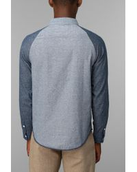 Urban Outfitters | Blue Native Youth Contrast Chambray Buttondown Shirt for Men | Lyst