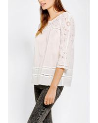 Urban Outfitters | White Hazel Embroidered Eyelet Tunic | Lyst
