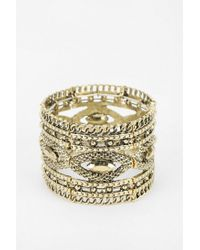 Urban Outfitters | Metallic Braided Stretch Bracelet | Lyst