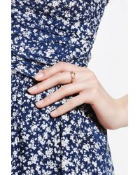 Urban Outfitters - Metallic Little Arrow Ring - Lyst