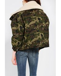 Urban Outfitters | Green Unif Mia Sherpalined Parka | Lyst