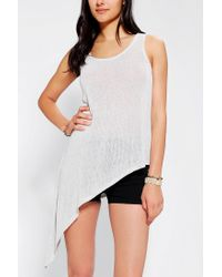 Urban Outfitters - Gray Asymmetrical Knit Tank Top - Lyst