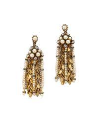 Aerin Erickson Beamon | Metallic Multi Strand Drop Earrings | Lyst